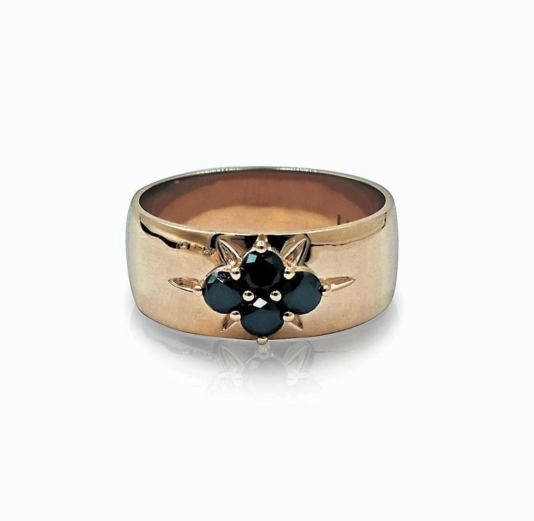 Luca Jouel Black Diamond Starr Band in Rose Gold In New Condition In South Perth, AU