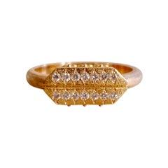 Luca Jouel Diamond Cross Ring in 18 Carat Rose Gold