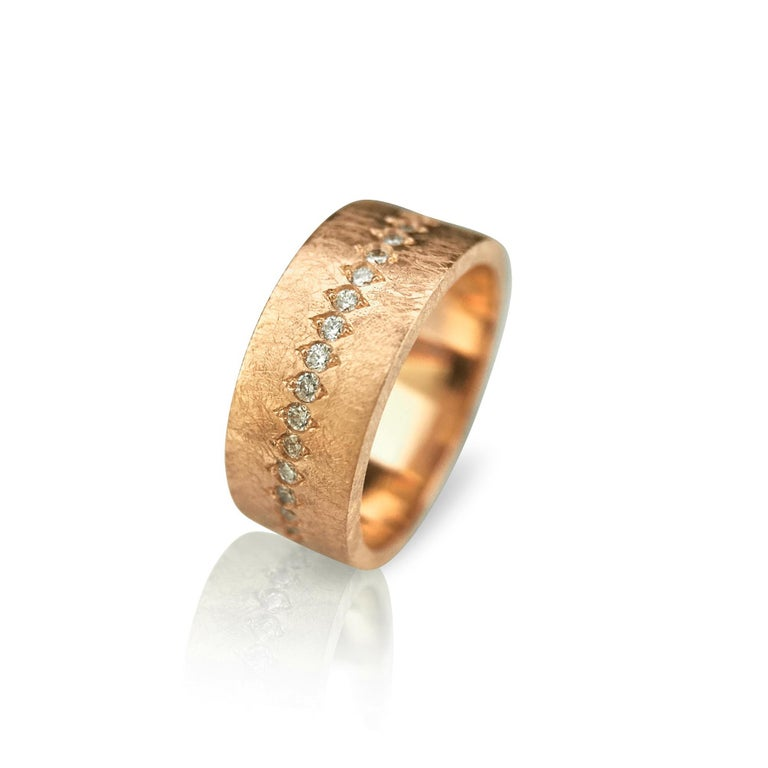 Contemporary Luca Jouel Diamond Demi Ancienne Diamant Ring in Rose Gold For Sale