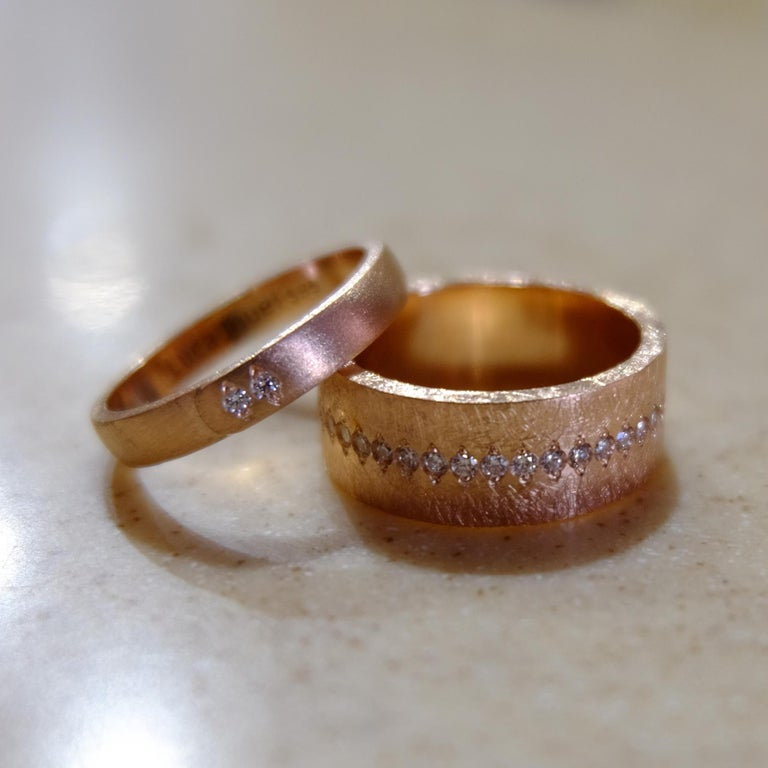 Luca Jouel Diamond Demi Ancienne Diamant Ring in Rose Gold In New Condition For Sale In South Perth, AU