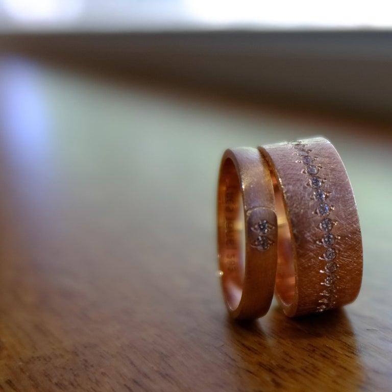Women's Luca Jouel Diamond Demi Ancienne Diamant Ring in Rose Gold For Sale