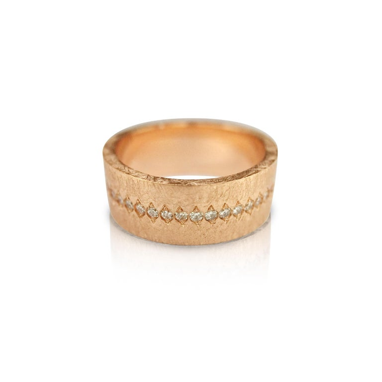 Luca Jouel Diamond Demi Ancienne Diamant Ring in Rose Gold For Sale 1