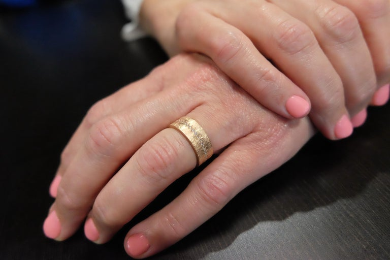Luca Jouel Diamond Demi Ancienne Diamant Ring in Rose Gold For Sale 2