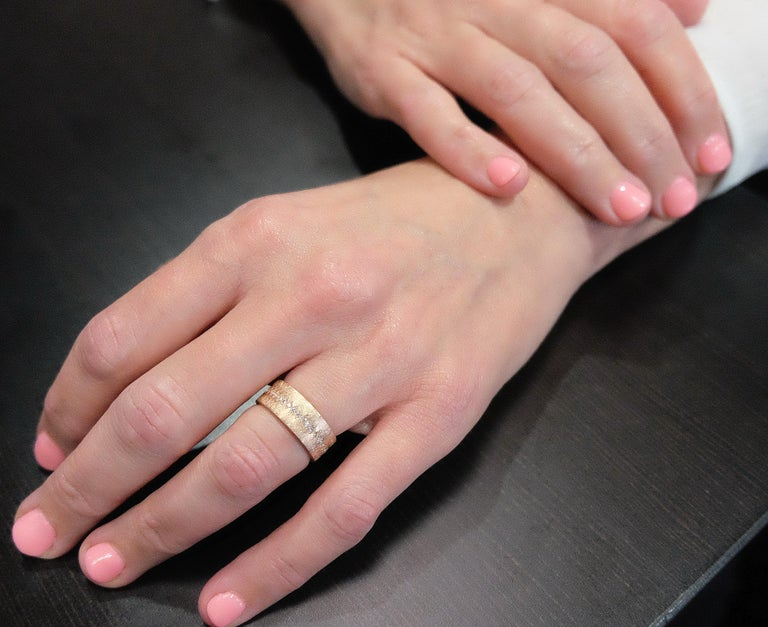 Luca Jouel Diamond Demi Ancienne Diamant Ring in Rose Gold For Sale 3