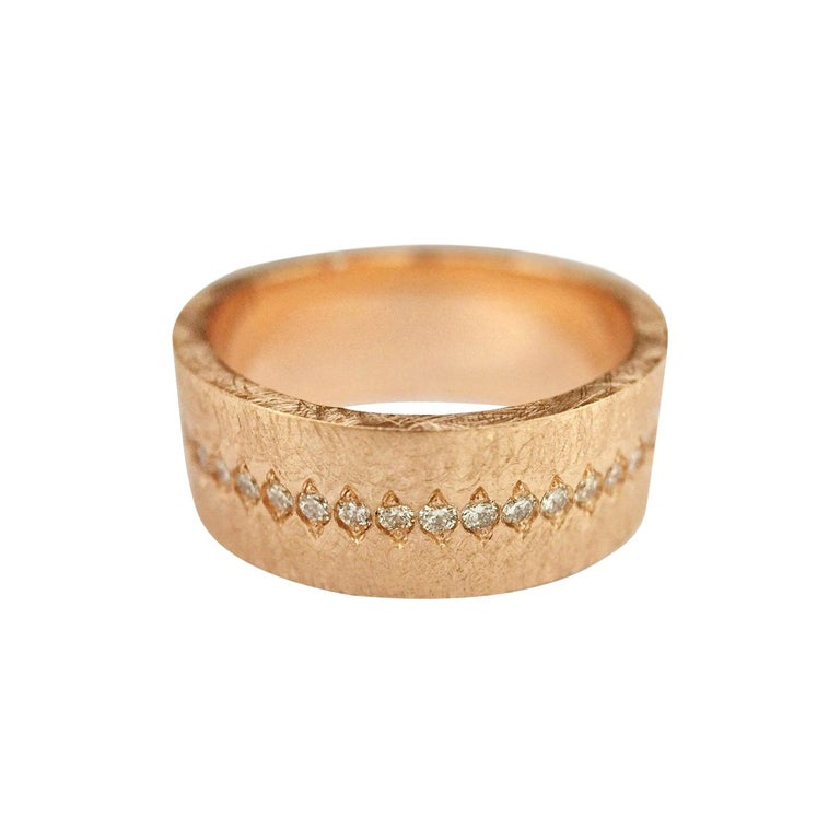 Luca Jouel Diamond Demi Ancienne Diamant Ring in Rose Gold For Sale