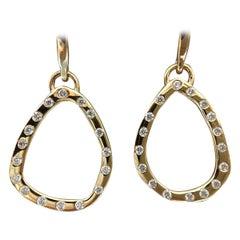 Luca Jouel Diamond Drop Earrings in 18 Carat Yellow Gold