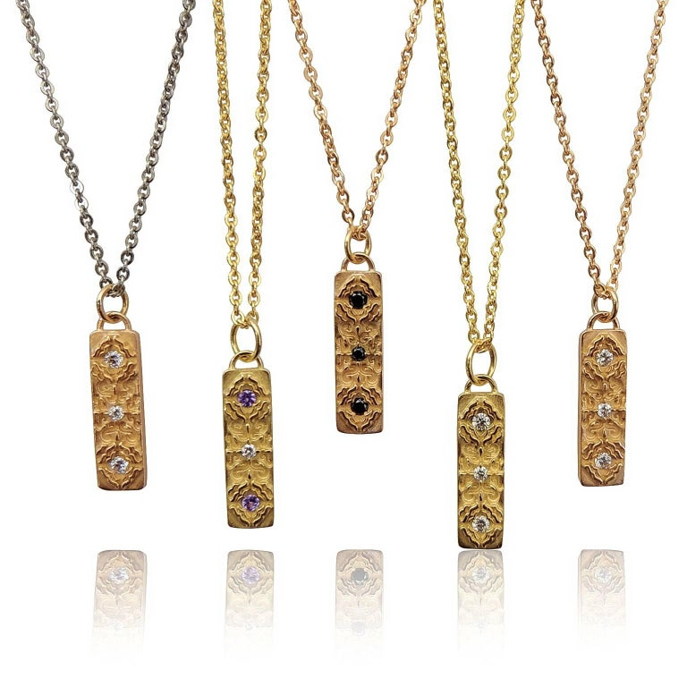 Luca Jouel Diamond Labyrint Necklace in Rose Gold For Sale 1