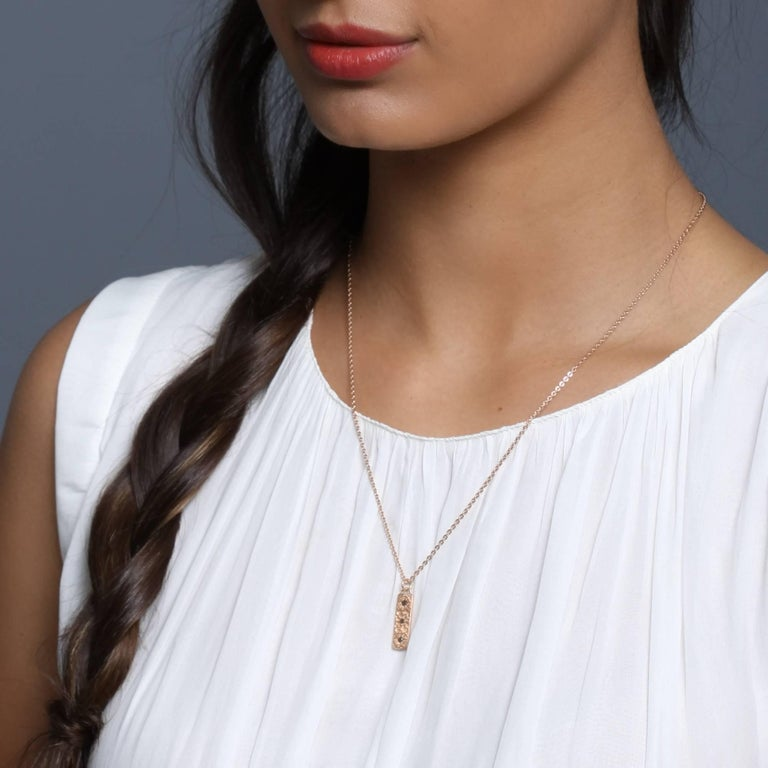 Luca Jouel Diamond Labyrint Necklace in Rose Gold For Sale 3
