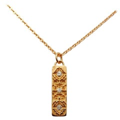 Luca Jouel Diamond Labyrint Necklace in 18 Carat Rose Gold