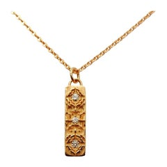 Luca Jouel Diamond Labyrint Necklace in Rose Gold