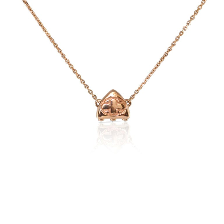 Luca Jouel Diamond Necklace and Huggie Hoop Earrings in Rose Gold For Sale 1