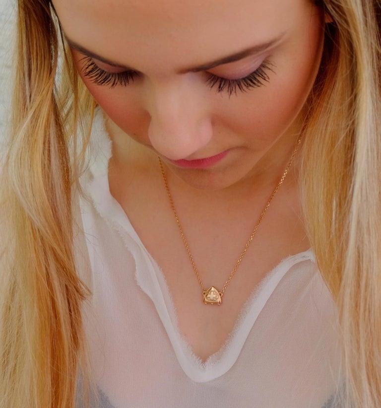 Luca Jouel Diamond Necklace and Huggie Hoop Earrings in Rose Gold For Sale 3