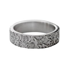 Luca Jouel Diamond Platinum Floral Diamond Band