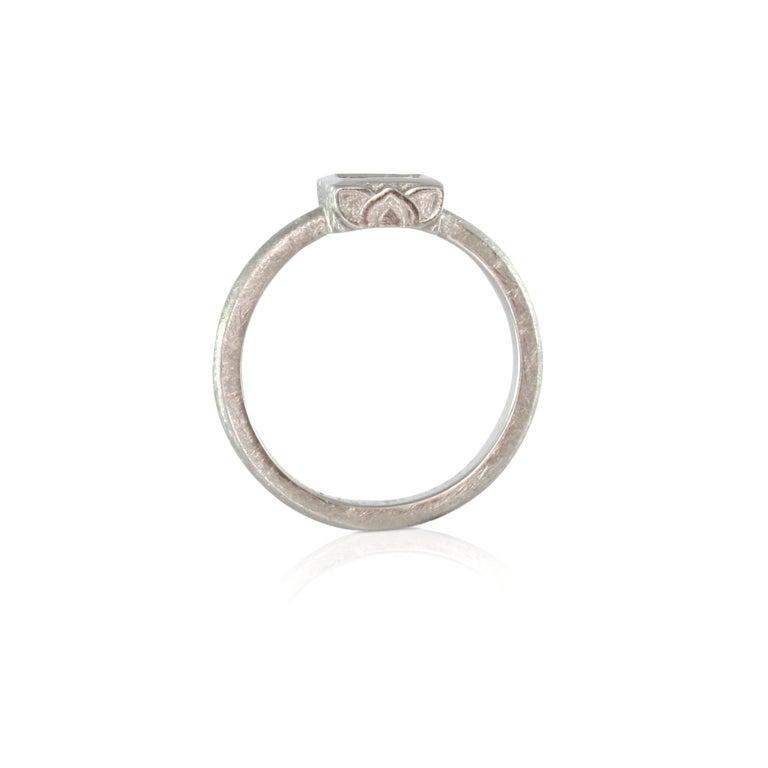 Luca Jouel Finest White Diamond Lotus Tennis Bracelet and Platinum Lotus Ring For Sale 6