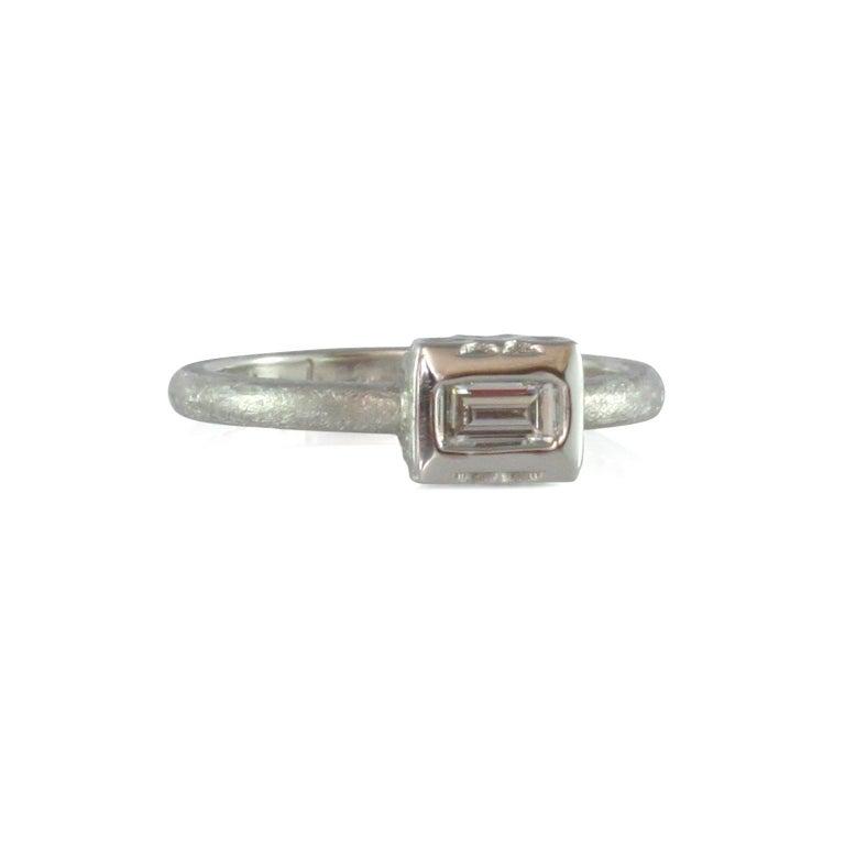 Luca Jouel Finest White Diamond Lotus Tennis Bracelet and Platinum Lotus Ring For Sale 7