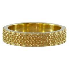 Luca Jouel Gold Patterned Templar Tapisserie Ring