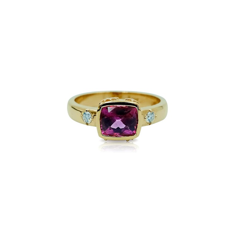 Luca Jouel Mulberry Spinel And White Diamond Ring In 18