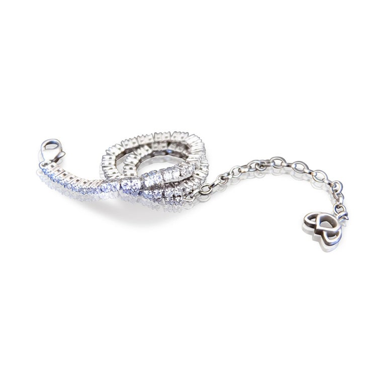 Luca Jouel One of a Kind Rose Cocktail Ring and Diamond Tennis Bracelet For Sale 4