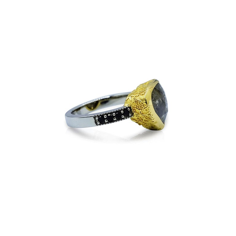 Luca Jouel One Only 5.47 Carat Rose Cut Diamond Ring in Gold and Platinum In New Condition For Sale In South Perth, AU