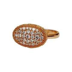 Luca Jouel Ornate Floral Diamond Ring in Rose Gold