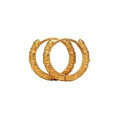 Luca Jouel Ornate Floral Earrings in 18 Carat Yellow Gold