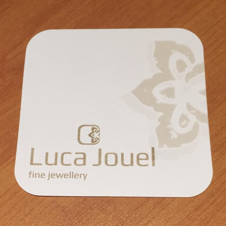 Round Cut Luca Jouel Petite Black Diamond Heart Necklace in Yellow Gold For Sale