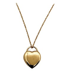Luca Jouel Petite Heart Necklace in Rose Gold