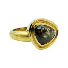 Luca Jouel Rose Cut Diamond Dress Ring in 18 Carat Yellow Gold