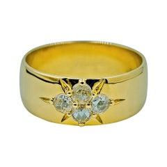 Luca Jouel Rose Cut Diamond Starr Band in 18 Carat Yellow Gold
