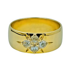 Luca Jouel Rose Cut Diamond Starr Band in Yellow Gold