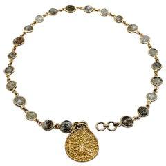 Luca Jouel Rose Cut Diamond Tennis Bracelet in 18 Carat Gold