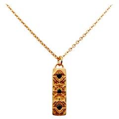 Luca Jouel Rose Gold Black Diamond Labyrint Necklace