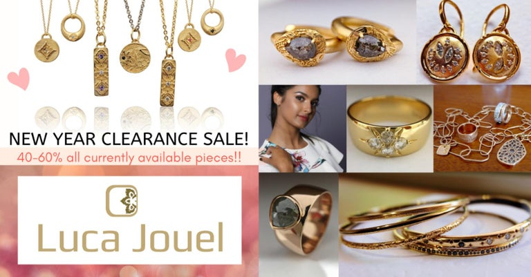 ** Happy New Year! We are celebrating the start of this new decade with a massive clearance sale where we are offering 40-60% off all our currently available pieces!! We welcome you to have a good look at our collection and hopefully you will find