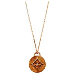 Luca Jouel Rose Gold White Diamond Necklace