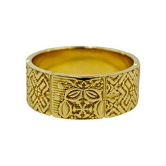Luca Jouel Unique Decorative Band in Yellow Gold