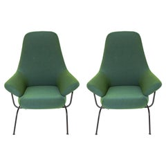 "Luca Nichetto for Hem Modern ""Hai"" Green Accent Chairs"