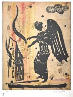 PRICE - Olympic Flame - Original Original Lithograph by Luca Pignatelli - 2008