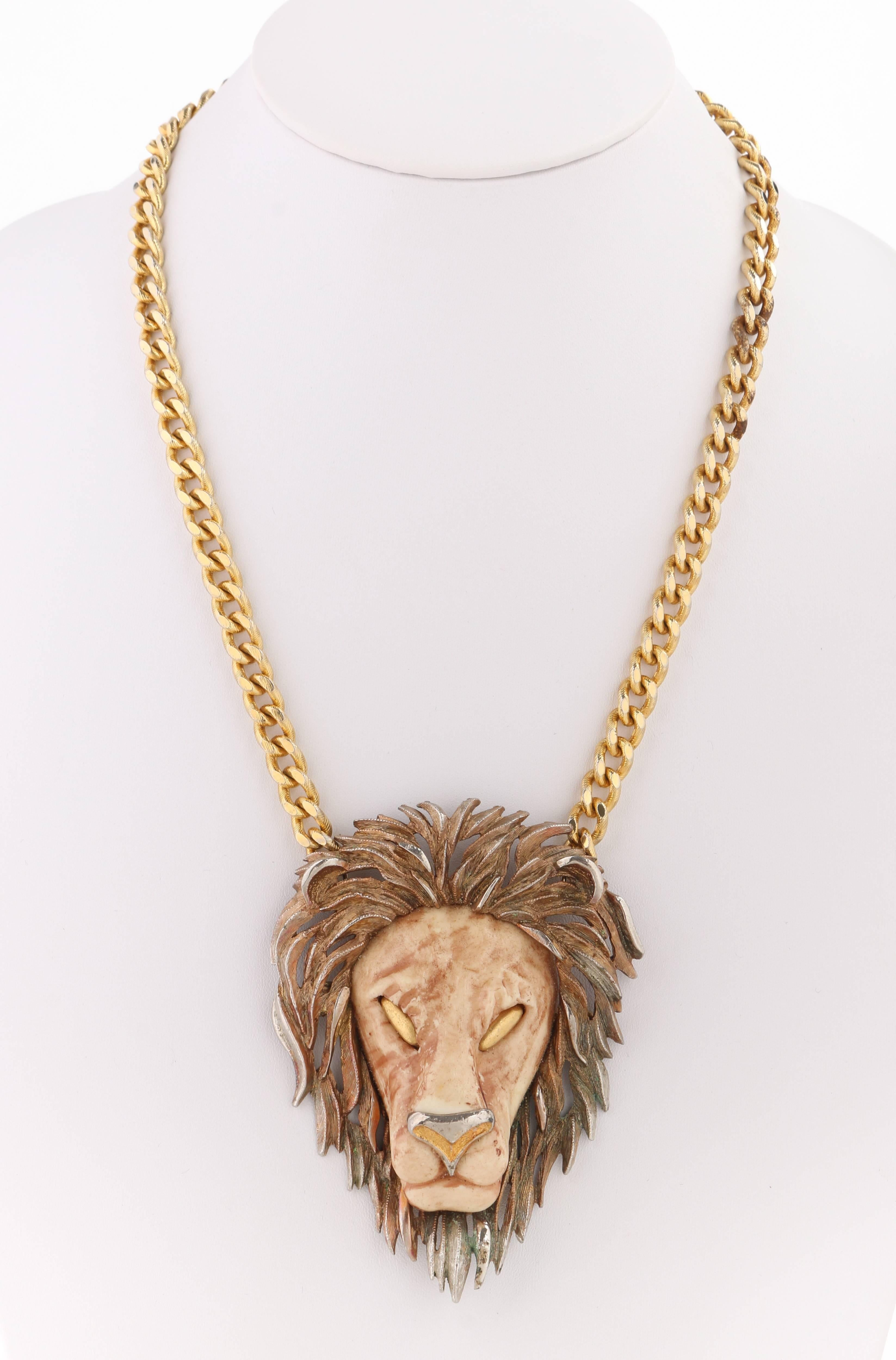 lion necklace pendant herakles products floor wholesale mosaic ncklwc getty