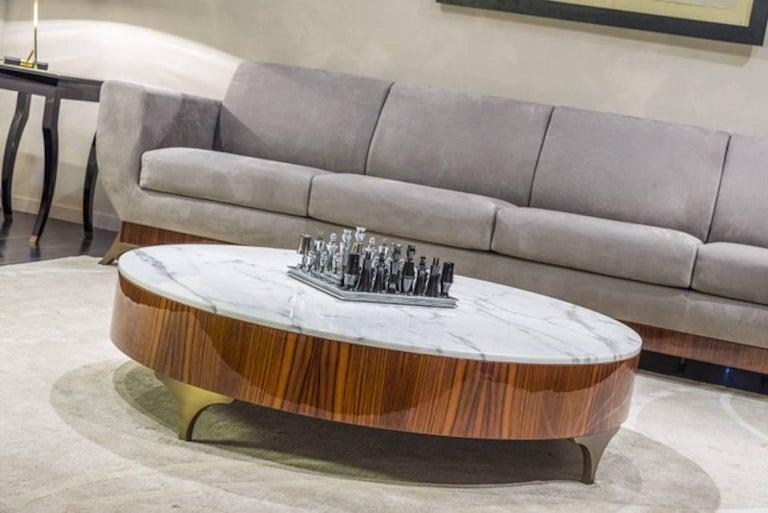 Modern Luca Scacchetti, Coffee Table, Percorsi Collection, Oak, Italy For Sale