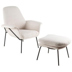 """Lucania"" Armchair with Ottoman by Giancarlo De Carlo for Arflex"