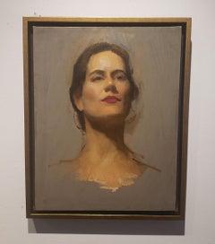 Classy, Portrait, Argentine Artist, Oil, Grand Central Atelier in New York