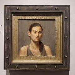 Rachel, Small Portrait, Argentine Artist, Oil, Grand Central Atelier in New York