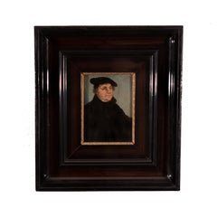 Portrait of Martin Luther by a Follower of Lucas Cranach the Elder, Oil on Panel