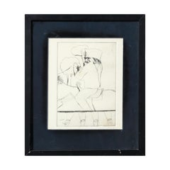"""""""Hollywood Star"""" Abstract Modern Figurative Etching of Three Men on Horseback"""