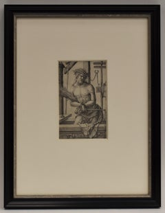 Homme de douleurs Lucas van Leyden Renaissance etching rare Dutch Netherlands