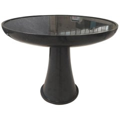 Luccio Round Table in Black Marble by Kreoo