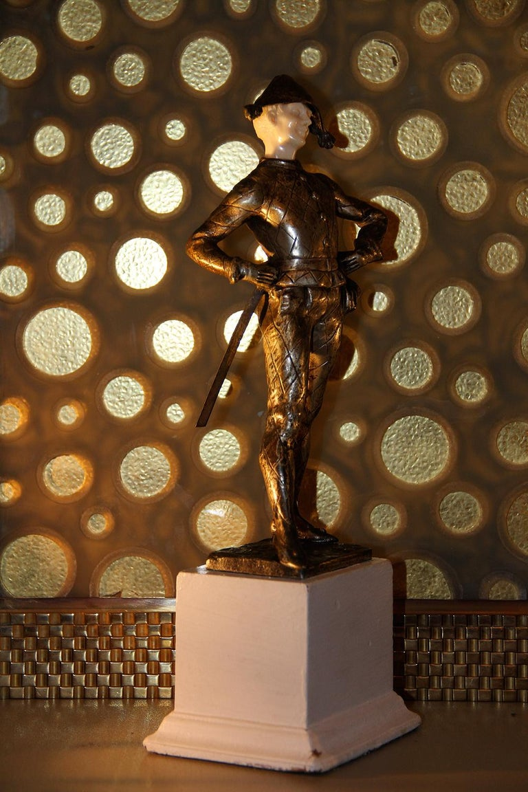 LUCE  Harlequin & Columbine Bronze 1920 In Good Condition For Sale In Encino, CA