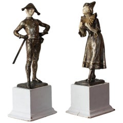LUCE  Harlequin & Columbine Bronze 1920