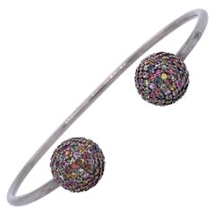 Lucea Mew York Multi-Color Sapphire Open Bangle Bracelet