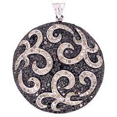 Lucea New York Black and White Diamond Pendant